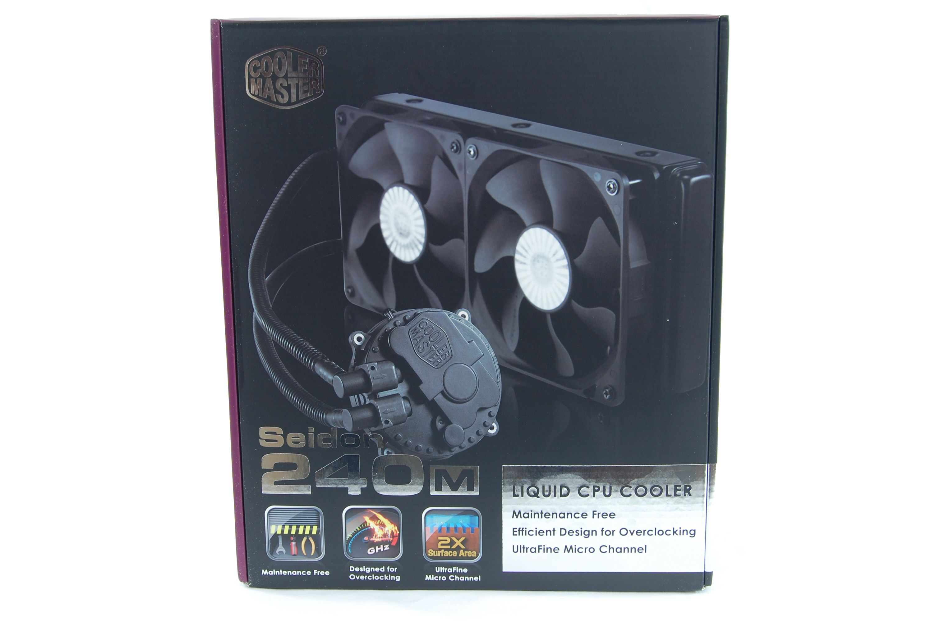 CoolerMaster Seidon 240M All-in-One Liquid CPU Cooler Review - Box