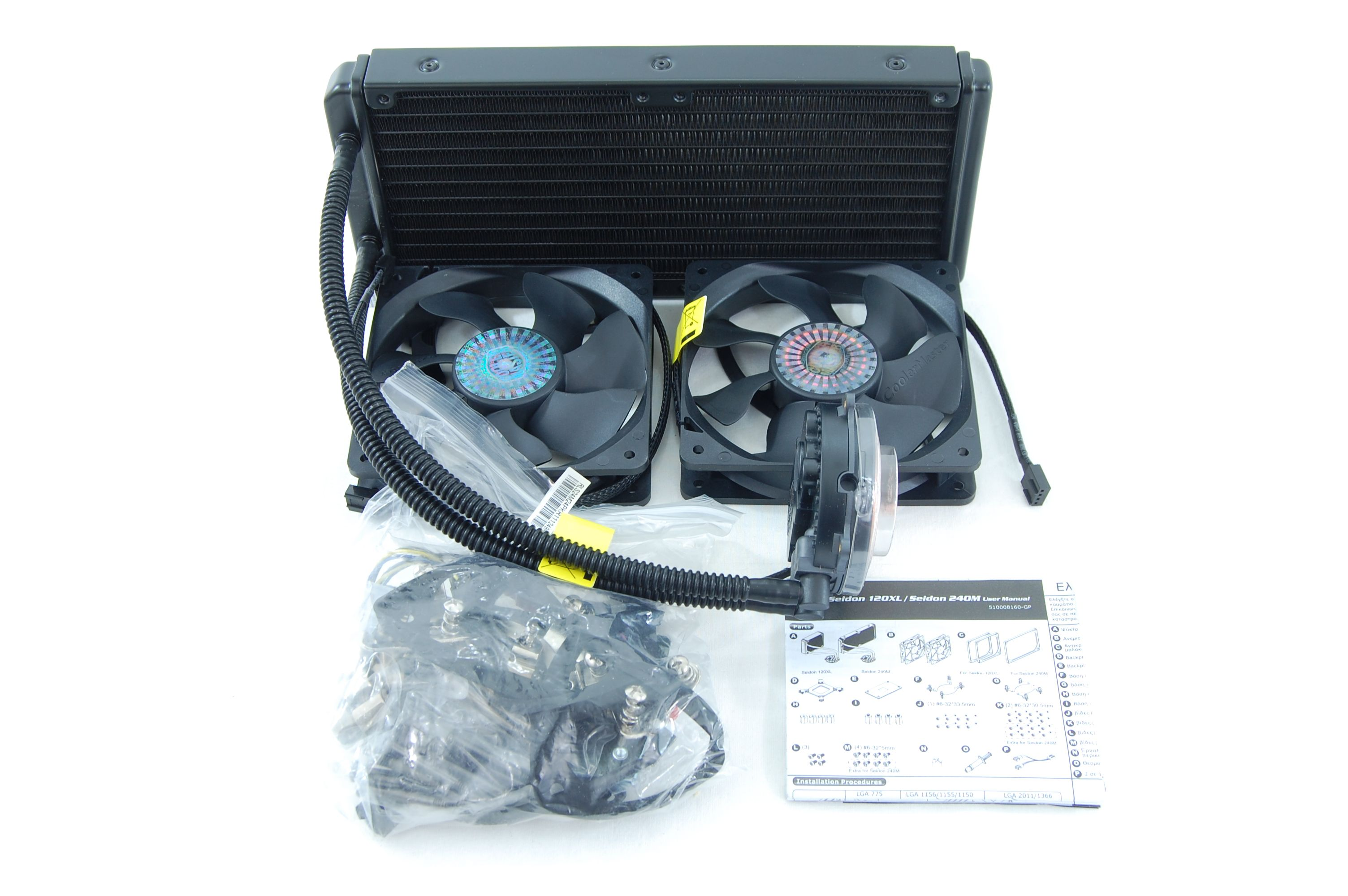 CoolerMaster Seidon 240M All-in-One Liquid CPU Cooler Review - Included Accessories